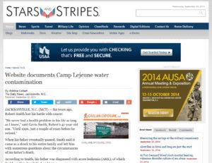 CivilianExposure.org featured in Stars & Stripes - 9-23-2014