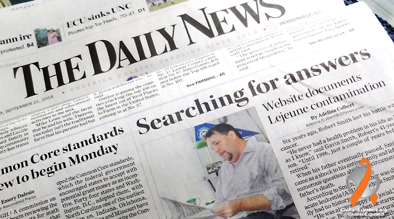 Civilian Exposure - Camp Lejeune Contamination - Jacksonville Daily News