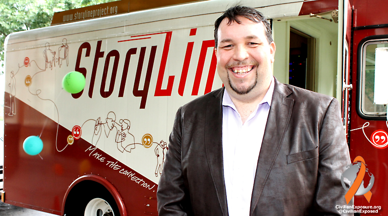 Civilian Exposure - Founder Gavin P Smith Interviewed on Storyline Bus