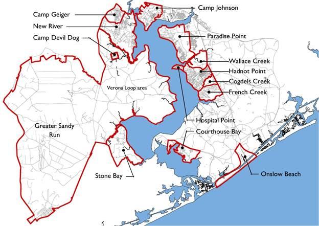 Camp Lejeune Water Contamination Map on