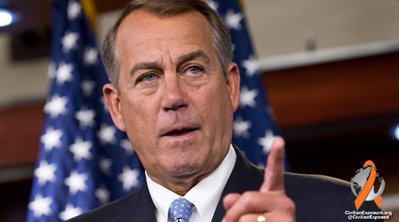 Civilian Exposure - Congress - Boehner - Veterans