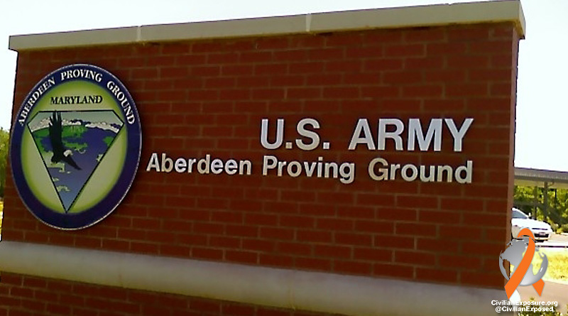 Civilian Exposure - Aberdeen Proving Grounds - Maryland