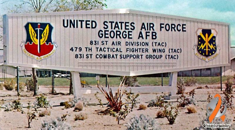 Civilian Exposure - Other Contaminated Military Bases - George Air Force Base