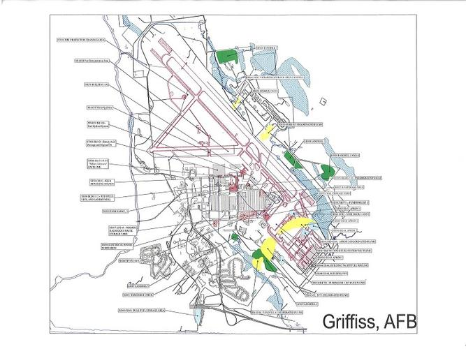 Civilian Exposure Other Superfund Sites - Griffiss AFB Location Map