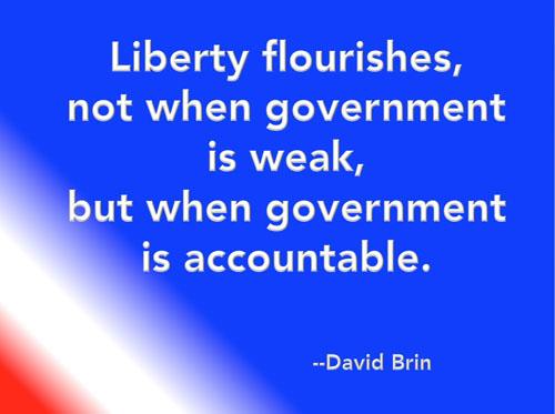 Civilian Exposure - Accountability Quote - David Brin