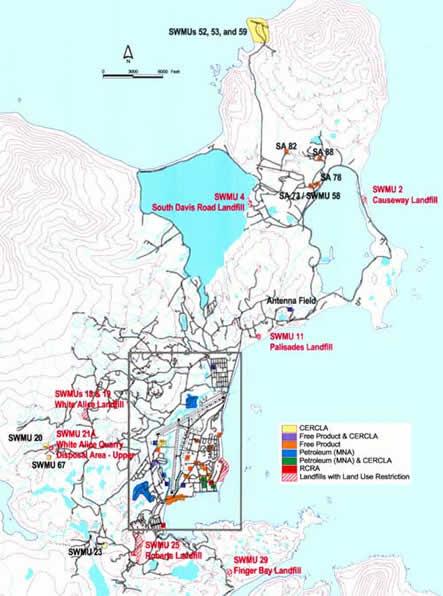 Civilian Exposure - Adak Base Map