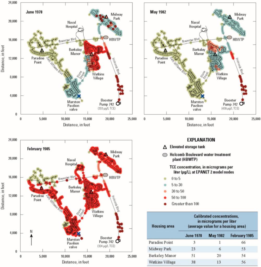 Civilian Exposure - Lejeune Water Modeling Report 2016 - Locations