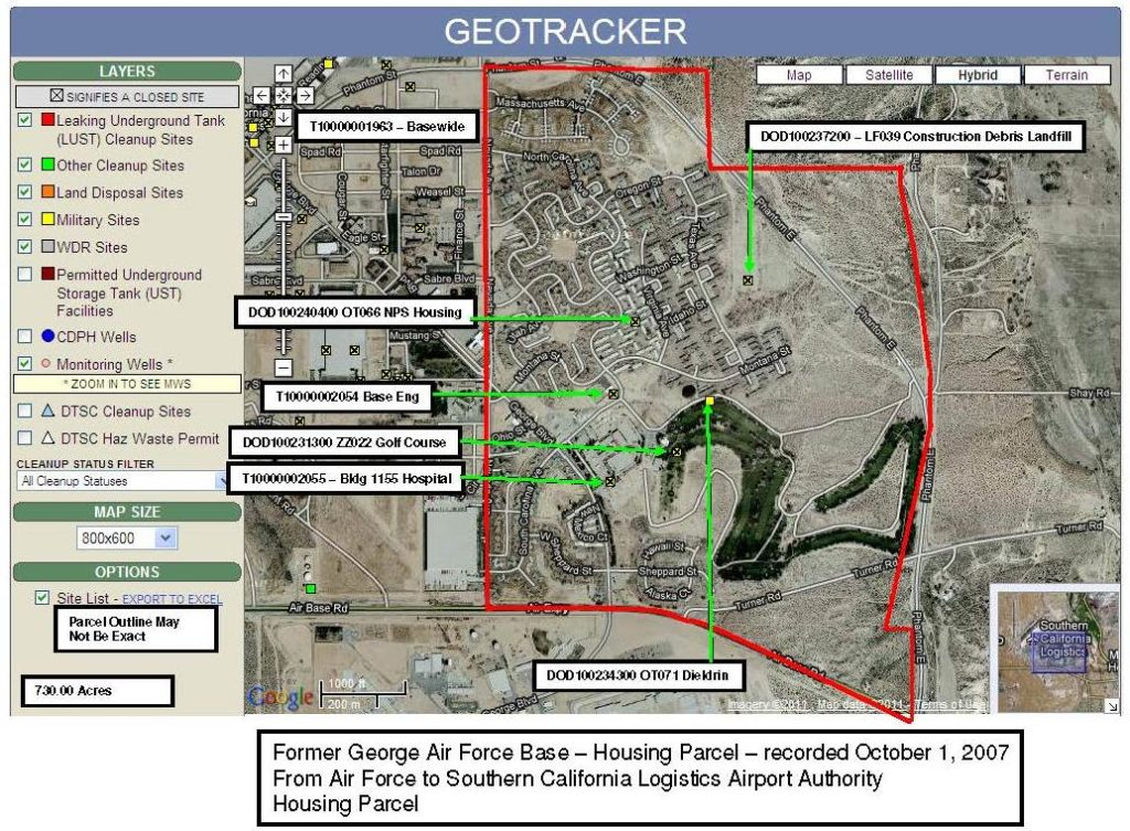 Civilian Exposure - Former George AFB Housing Parcel 1