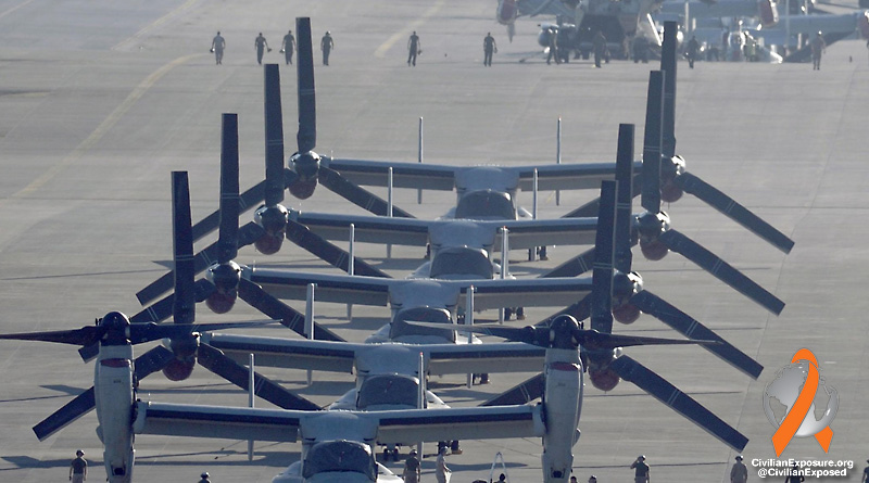 Civilian Exposure - Okinawa Lands - Military - Helipads