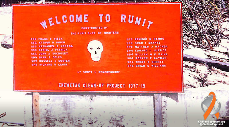 Civilian Exposure - Military Contamination - Enewetak Atoll