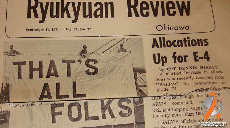 Civilian Exposure - Military Contamination - Okinawa - That's All Folks