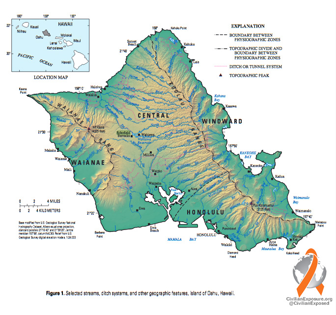 Civilian Exposure - Schofield Map - Hawaii